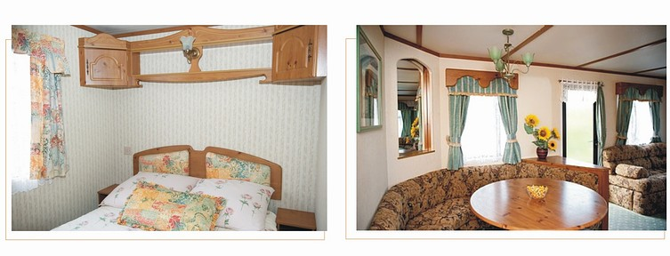 Sypialnia małżeńska i salon wypoczynkowy.