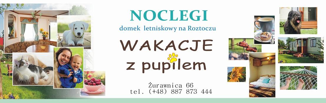 Wakacje z pupilem - samodzielny domek letniskowy na Roztoczu koło Zwierzyńca i Szczebrzeszyna.